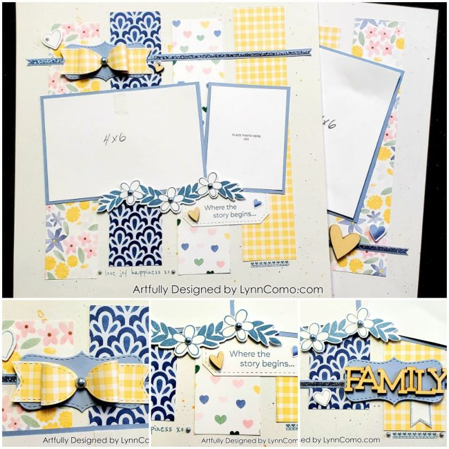 Lovely Blue and Yellow Scrapbooking